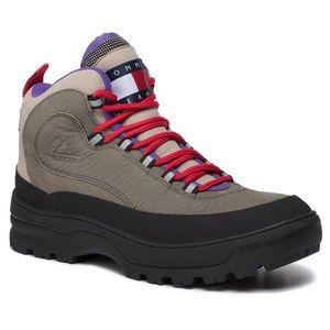Cizme TOMMY JEANS - Hilfiger Expedition Mens Boot EM0EM00301 Dusty Olive LDY imagine