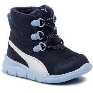 Cizme de zăpadă PUMA - Bao 3 Boot Inf 190113 04 Peacoat/Cerulean/White imagine