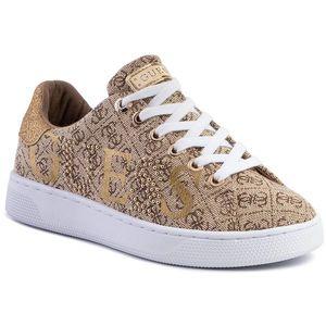 Sneakers GUESS - Riderr3 FL5RD3 FAL12 BEIGE/BROWN imagine