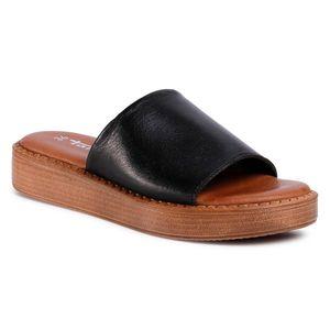 Șlapi TAMARIS - 1-27236-34 Black Leather 003 imagine