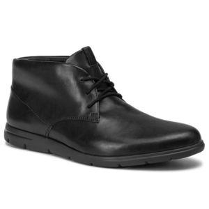 Ghete CLARKS - Vennor Mid 261364907 Black Leather imagine