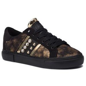 Sneakers GUESS - Glitzy2 FL8GL2 LEL12 GOLD/BLACK imagine