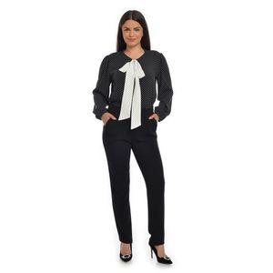 Bluza Dama cu Funda Ampla Neagra cu buline albe imagine