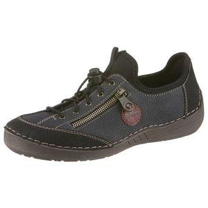 RIEKER Pantofi cu șireturi sport negru / albastru imagine
