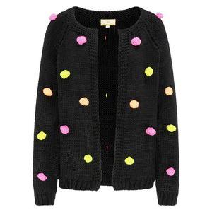 MYMO Geacă tricotată negru / roz / portocaliu pastel / galben imagine