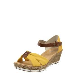 RIEKER Sandale galben / maro / bronz / alb imagine