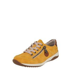 RIEKER Pantofi cu șireturi sport maro / galben muștar / negru imagine