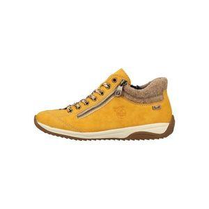 RIEKER Pantofi cu șireturi galben citron / alb imagine