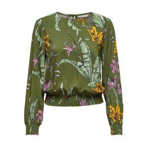 ONLY Bluză 'Palm' roz / galben / oliv / roz imagine