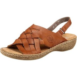 RIEKER Sandale maro coniac imagine