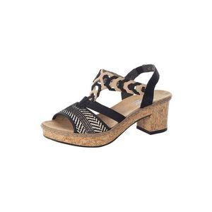 RIEKER Sandale negru / culoarea pielii imagine
