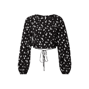 Bardot Bluză negru / alb imagine