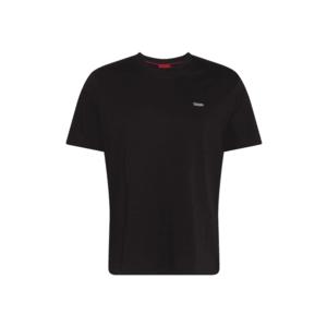 HUGO Tricou 'Dero' negru imagine