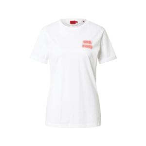 HUGO Tricou 'Dibiusa' alb / roșu imagine
