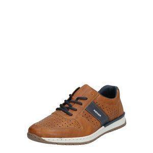 RIEKER Pantofi cu șireturi sport albastru închis / maro coniac imagine
