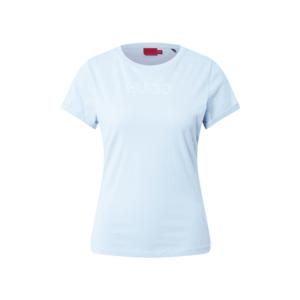 HUGO Tricou albastru deschis / alb imagine