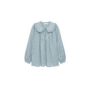 MANGO Bluză albastru / alb / bleumarin / verde imagine