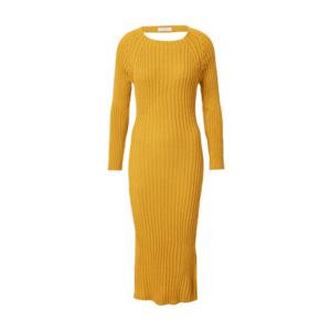 WAL G. Rochie tricotat 'LASSIE' galben auriu imagine