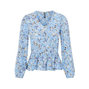 PIECES Bluză azuriu / galben lămâie / alb imagine