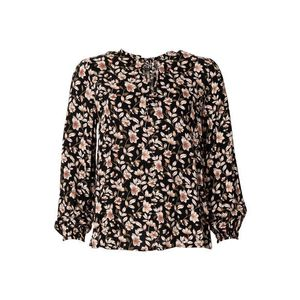 Indiska Bluză negru / roz / alb / oliv imagine