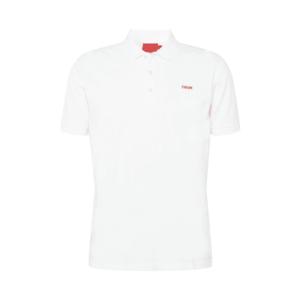HUGO Tricou alb / roși aprins imagine