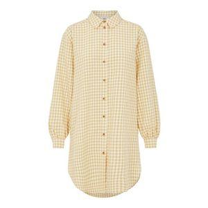 OBJECT Rochie tip bluză 'Tamar' galben / alb imagine