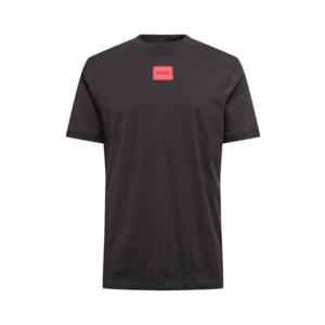 HUGO Tricou 'Diragolino212' negru / roșu deschis imagine