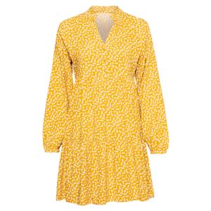 OBJECT Rochie tip bluză 'Elise' galben închis / alb imagine