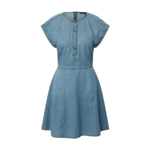 ARMANI EXCHANGE Rochie tip bluză albastru denim imagine