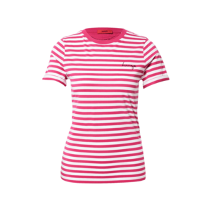 HUGO Tricou roz / alb imagine