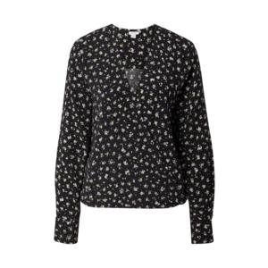 OVS Bluză negru / lila / verde deschis / alb imagine