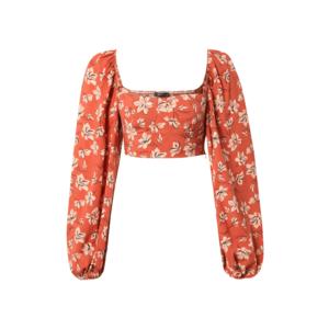Trendyol Bluză portocaliu / bej / negru imagine