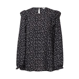 OVS Bluză negru / alb / albastru imagine