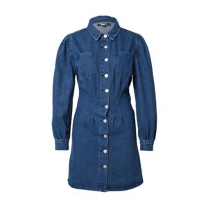Missguided Rochie tip bluză albastru denim imagine