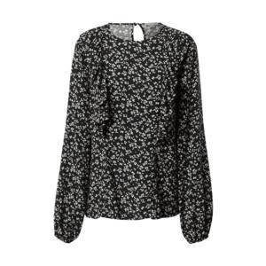 OVS Bluză negru / alb imagine