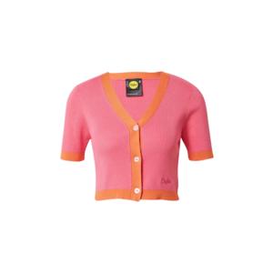 Buffalo Apparel Geacă tricotată 'IHANA' roz / portocaliu imagine